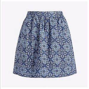 2 For $20 J. Crew Blue Cotton Mini Skirt Sz M
